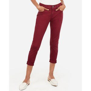 Express Mid Rise Cropped Double Roll Leggings 2